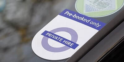 Private hire taxi and driver heathrow transport service