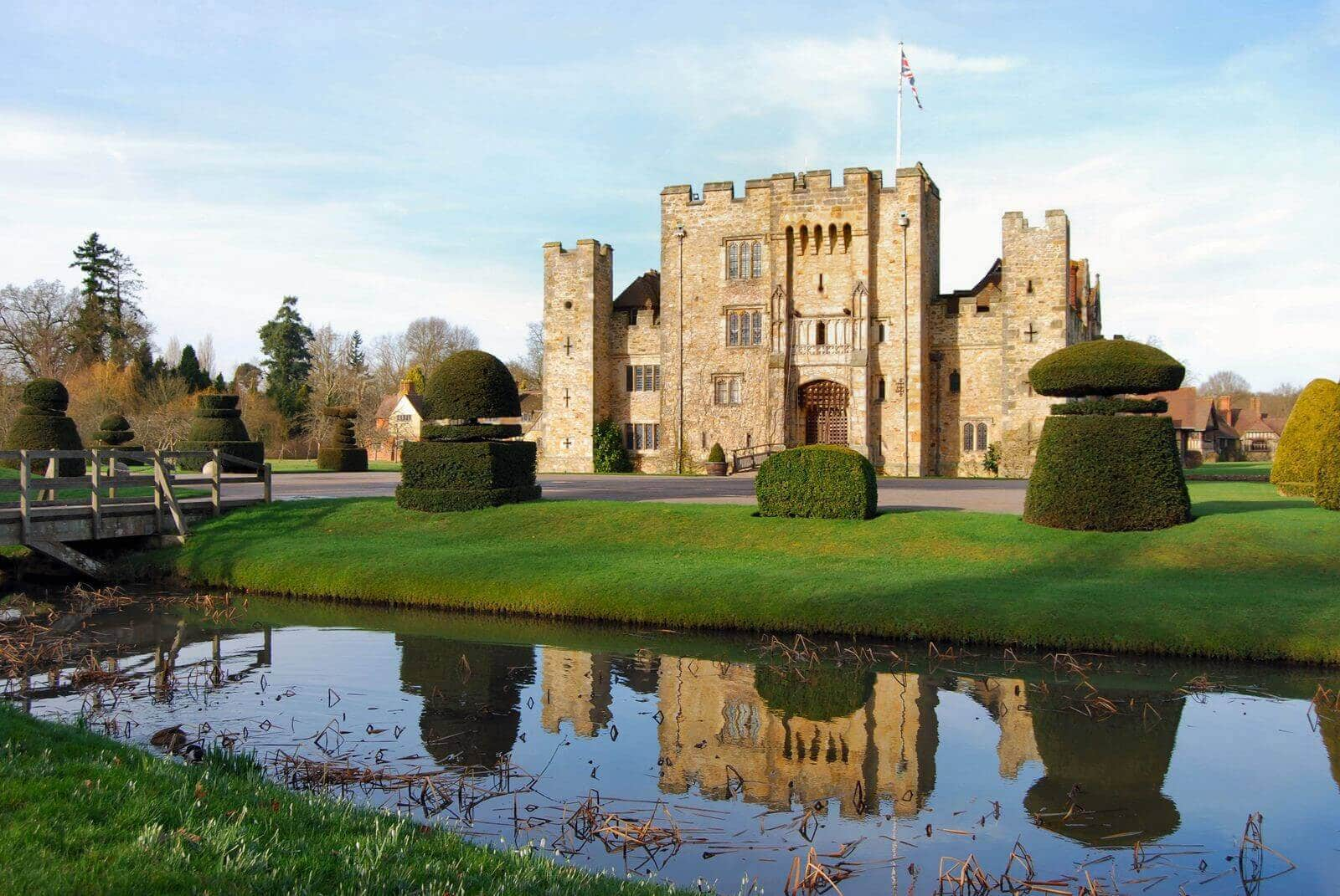 Hever Castle and Gardens in Kent UK