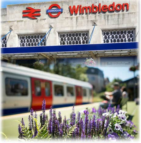 getting to wimbledon train and tube