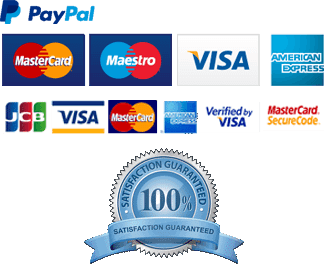 payment method visa card and Paypal Logo